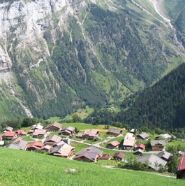 Panorama of Gimmelwald.