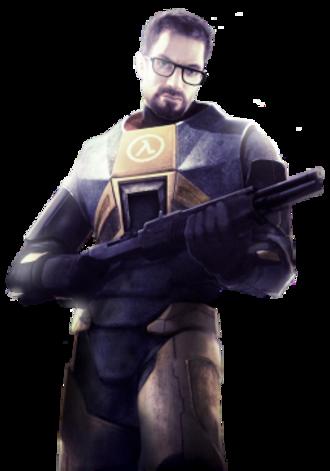 Gordon Freeman - Gordon Freeman with a Franchi SPAS-12, as he appears in official Half-Life 2 art.