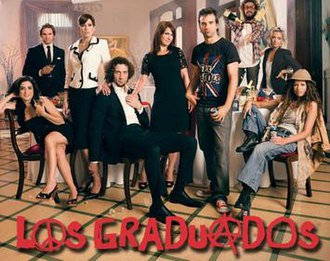 Graduados - Logo and main characters of Graduados