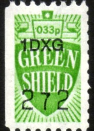 Green Shield Stamps - A typical Green Shield stamp.