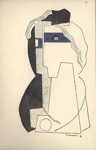 """Henri Laurens - Henri Laurens, Céline Arnauld, reproduced in Tournevire, Edition de """"L'Esprit nouveau"""", 1919"""
