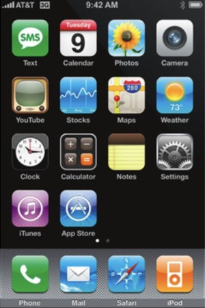 IPhone OS 2 - Image: I Phone OS 2 screenshot