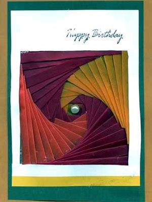Iris folding - Birthday card made with iris folding