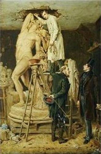 Ralph Hedley - Ralph Hedley, John Graham Lough in His Studio, 1881.
