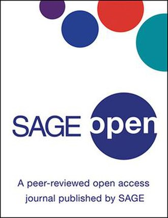SAGE Open - Image: Journal cover SAGE Open