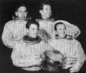 Journey into Space - The four main cast members of Journey Into Space: The World in Peril