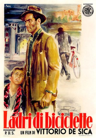 Bicycle Thieves - Italian theatrical release poster