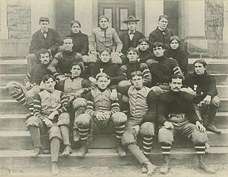 Parke H. Davis - Image: Lafayette 1896Football Team Photo