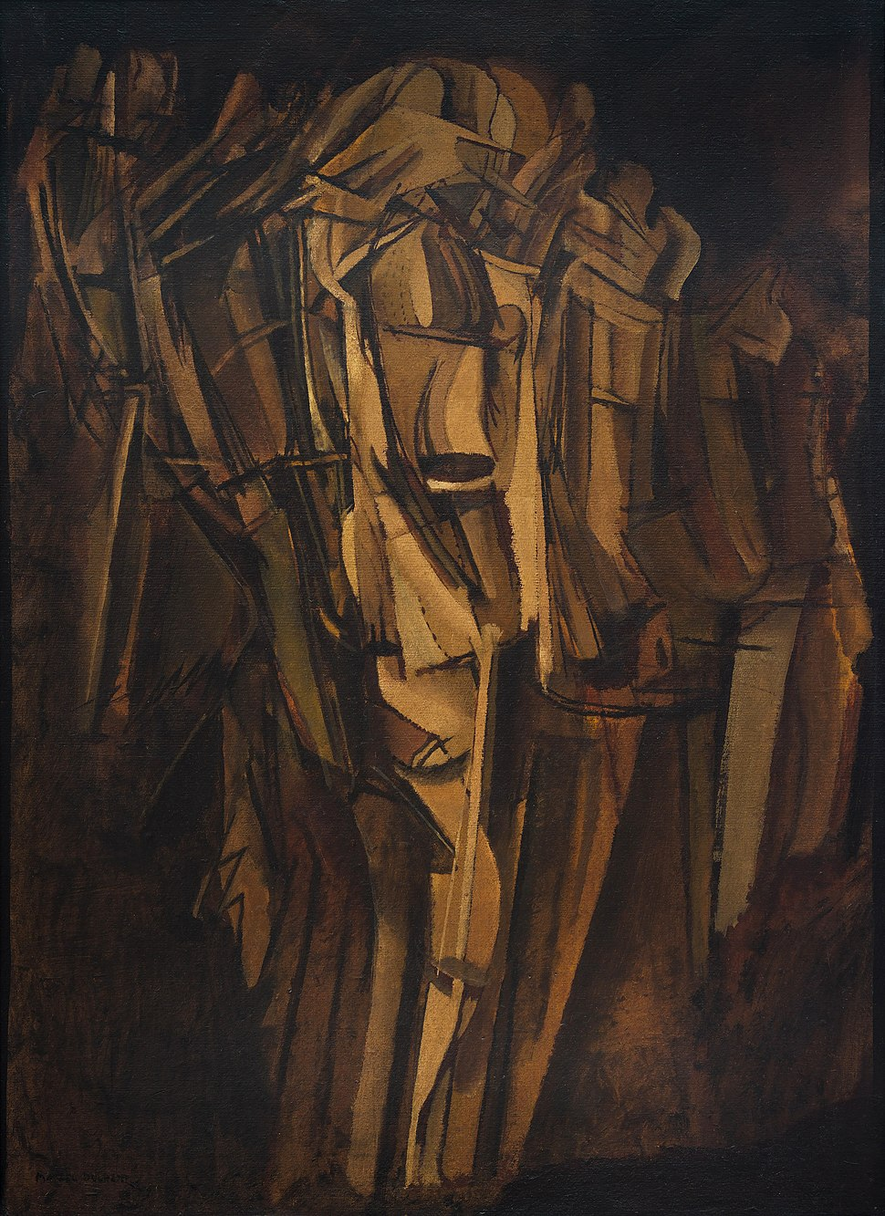 Marcel Duchamp, 1911-12, Nude (Study), Sad Young Man on a Train (Nu -esquisse-, jeune homme triste dans un train), Peggy Guggenheim Collection, Venice