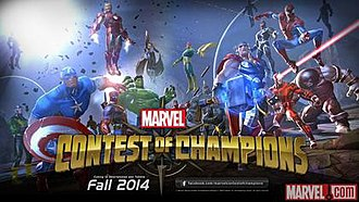 Marvel: Contest of Champions - Image: Marvel Contest of champions official banner logo