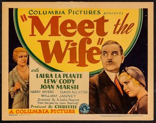 <i>Meet the Wife</i> (film) 1931 film