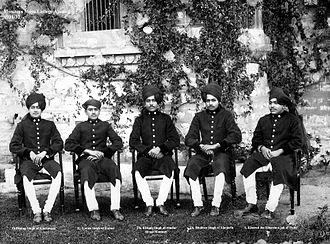Muhammad Khair ud-din Mirza, Khurshid Jah Bahadur - Prince Khurshid of Delhi, seated right