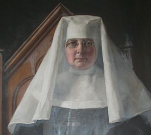 Former religious orders in the Anglican Communion - Reverend Mother Elizabeth (detail) painted by John Collier