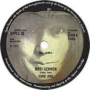 Mrs. Lennon - Image: Mrs Lennon label