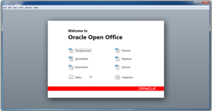 Oracle Open Office 3.3.1 Start Center.png