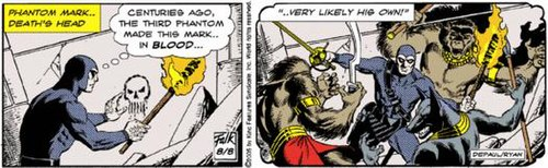 The Phantom daily strip from 2005. Art by Paul Ryan.