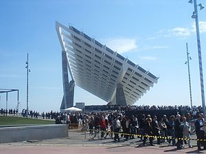 2004 Universal Forum of Cultures - Sculptural photovoltaic plate in Forum area
