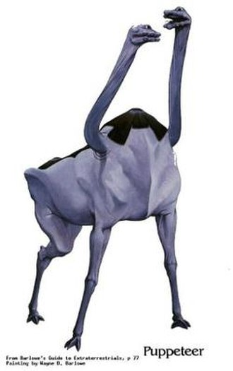 Pierson's Puppeteers - Illustration of Pierson's Puppeteer from Barlowe's Guide to Extraterrestrials
