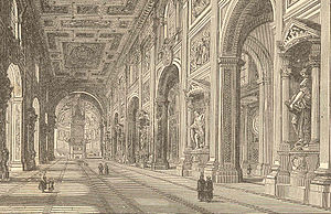 Papal States under Pope Pius IX - An 1870 view of the Lateran
