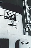 U.S. Fish and Wildlife Service logo on stack of RV George B. Kelez in 1963