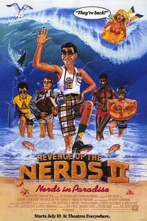 Revenge of the Nerds II: Nerds in Paradise - Theatrical release poster