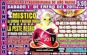 CMLL Reyes del Aire - Official poster for the 2011 Reyes del Aire tournament