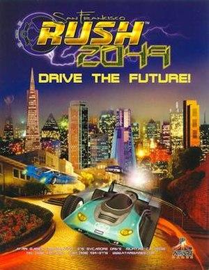 San Francisco Rush 2049 - Arcade flyer