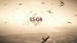 Series title over a swastika and a leaden sky of fighter planes