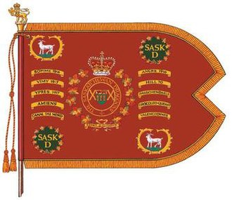 The Saskatchewan Dragoons - The guidon of The Saskatchewan Dragoons.