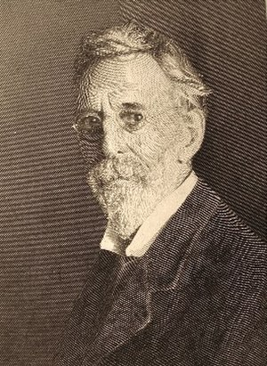 Stephen Alonzo Schoff - Self-portrait, engraving by Stephen A. Schoff
