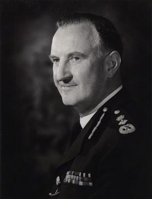 Arthur Young (police officer) - Sir Arthur in 1966