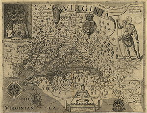 Protohistory of West Virginia - The Susquesahanock on the Captain John Smith 1612 map