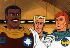 "Starcom: The U.S. Space Force - Colonels: John ""Slim"" Griffin (Starbase Command), Paul ""Crowbar"" Corbin (Astro Marines), James ""Dash"" Derringer (Star Wing)"