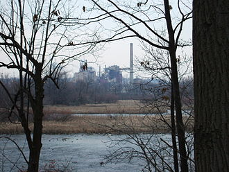 Thilmany - The Thilmany factory in Kaukauna as seen from the 1000 Islands Environmental Center.