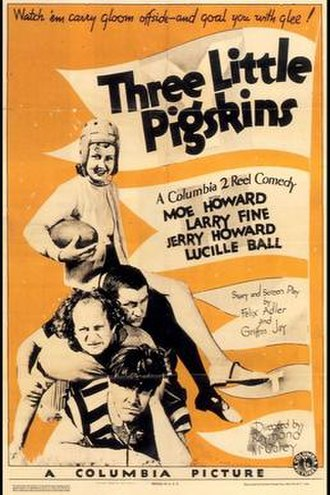 """Three Little Pigskins - The Stooges were not professionally known as """"The Three Stooges"""" when the film was released as they were billed by their individual names"""