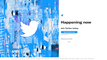 Twitter Home Page (Moments version, countries without dedicated feed)