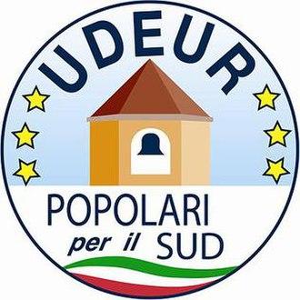 Union of Democrats for Europe - Image: UDEUR POPOLARI PER IL SUD