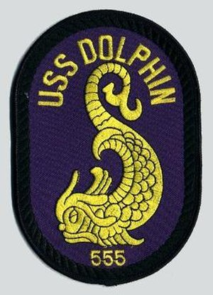 USS Dolphin (AGSS-555) - Image: USS Dolphin AGSS 555 Badge