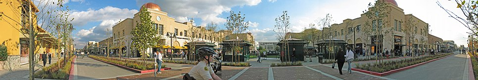 """Panorama of the """"Town Square"""" at Victoria Gardens in Rancho Cucamonga"""