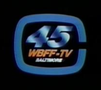 """WBFF - This WBFF logo dates to the mid-1980s. The """"C"""" in the logo is for Sinclair Broadcast Group's forerunner, Chesapeake Television."""