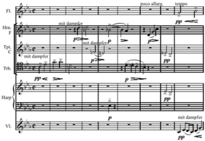 "The Musical Offering - The opening of Webern's arrangement of ""Ricercar a 6"""