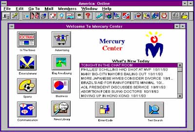 Welcome to Mercury Center, 1993