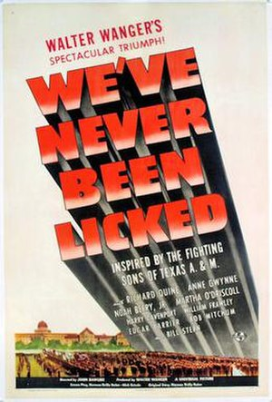 We've Never Been Licked - Theatrical Poster