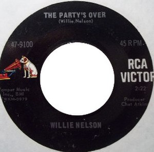 The Party's Over (Willie Nelson song) - Image: Willie Nelson The Party's Over