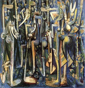 Wifredo Lam - Wifredo Lam, The Jungle, gouache on paper, 1943, Museum of Modern Art