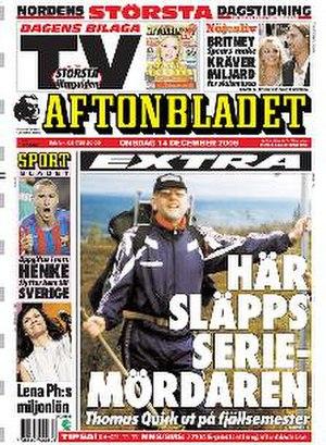 Aftonbladet - Image: Aftonbladet frontpage