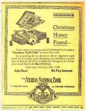 First American National Bank - Old ad for American National Bank, predating its name change to First American.