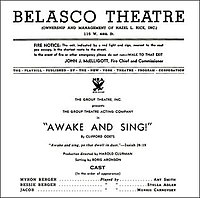 Awake and Sing! Playbill.jpg
