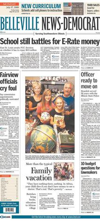 Belleville News-Democrat - The July 27, 2009 front page of the Belleville News-Democrat