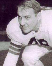 Pucci pictured in a Browns uniform in 1948